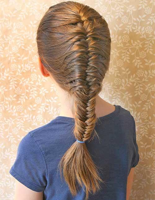penteado facil pra escola tipo trança espinha de peixe