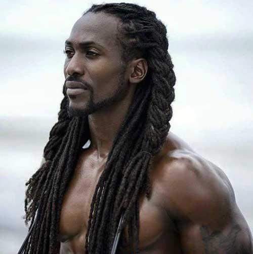 cabelo de homem negro grande