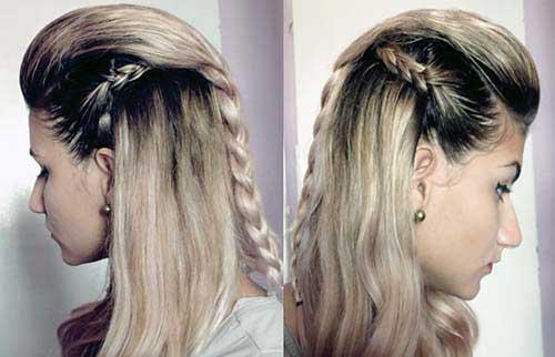 cabelo com moicano e trança