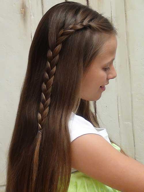 trança pro lado em cabelo infantil