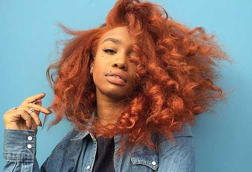 cabelo vermelho em morena amarelada