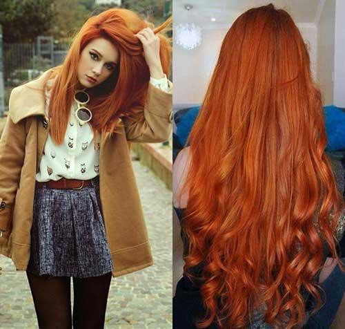 cabelo meio laranja