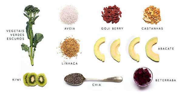 alimentos bons para os cabelos