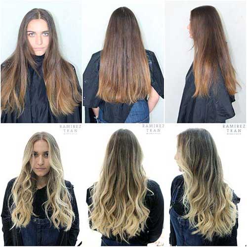resultados de cabelos com mechas loiras