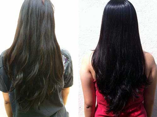 píntar o cabelo de preto com efeito azul