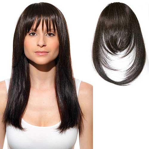 cabelo com franja longa de tic tac