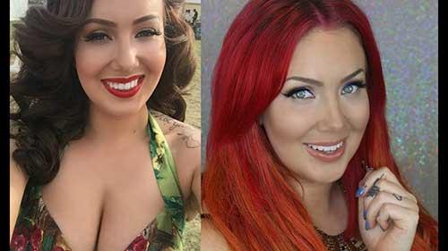 antes e depois em morena plus size