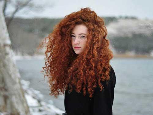 cabelo cacheado ruivo natural comprido