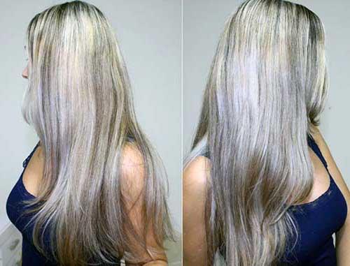 cabelos de avo acinzentado