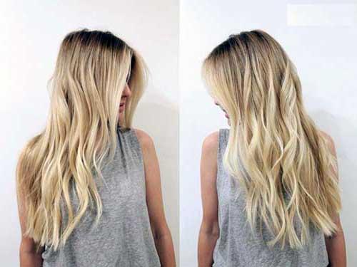 cabelo com mecha loiro claro