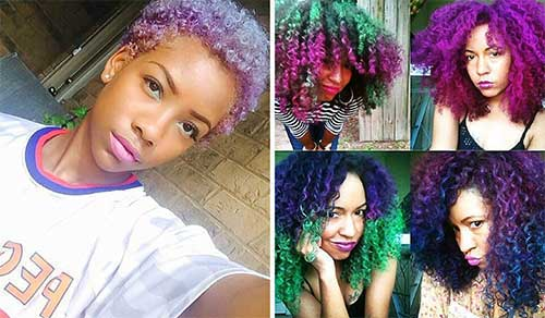 cabelos multicoloridos do tumblr
