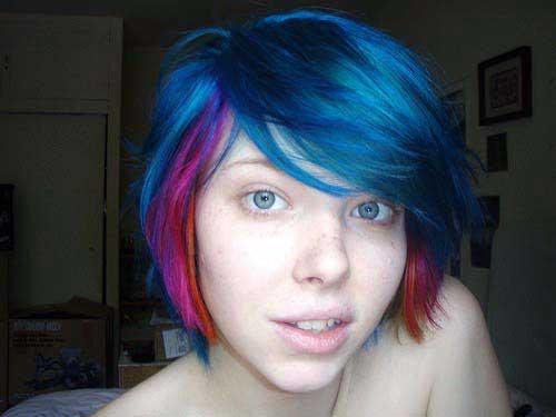 cabelos com varias cores