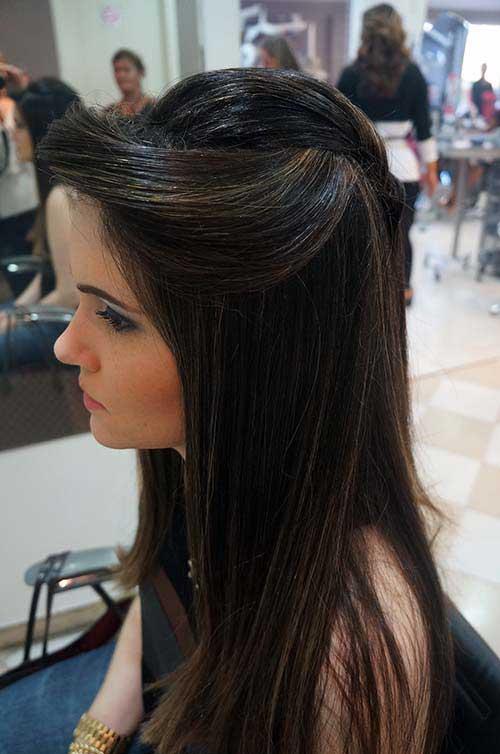 cabelo comprido com estilo