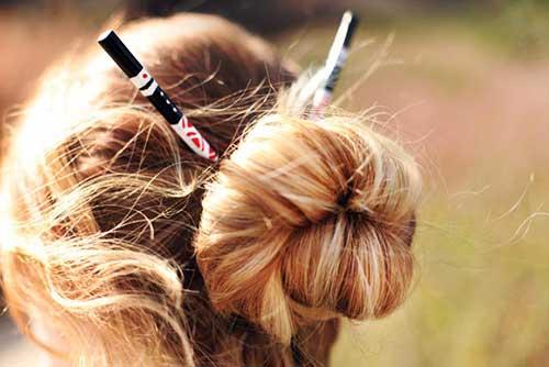 penteado japones tipo coque com hashi