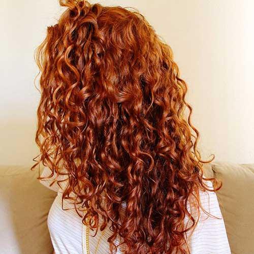 cabelo de costas ruivo