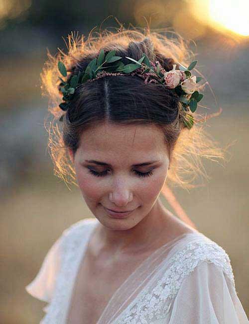 cabelos com folhas especiais