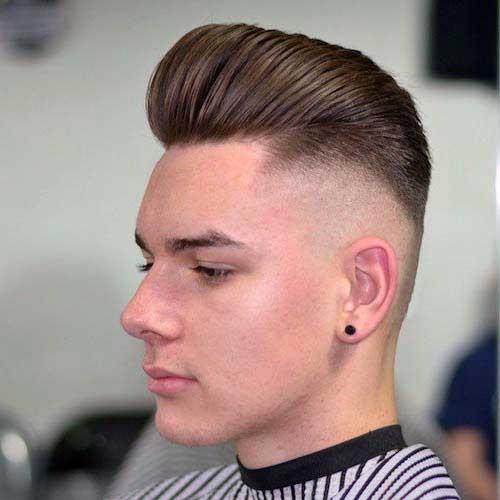 cabelo masculino liso estilizado