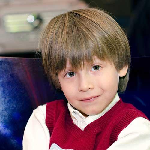 penteado masculino liso pra crianças