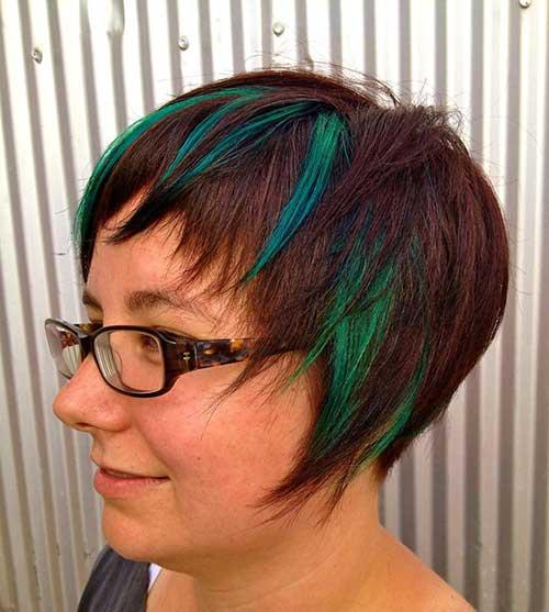 cabelo liso colorido de verde pra senhora