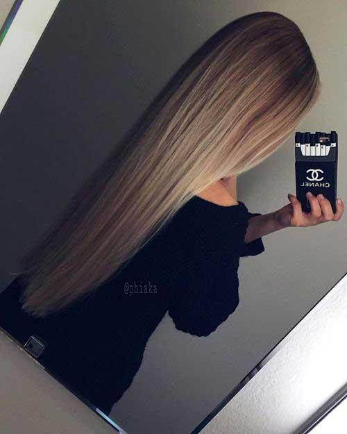 cabelos lisos longos