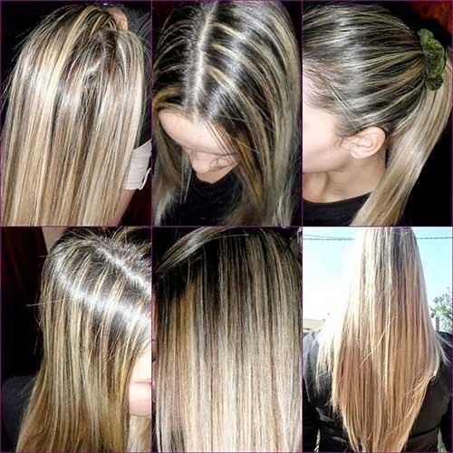 cabelo loiro com mechas largas nao esta na moda