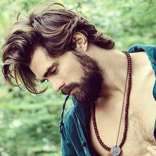 homem hippie bonito