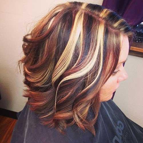 cabelos com cor loira, vermelha e preta