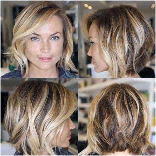 cabelos modernos vistos de frente e de costas