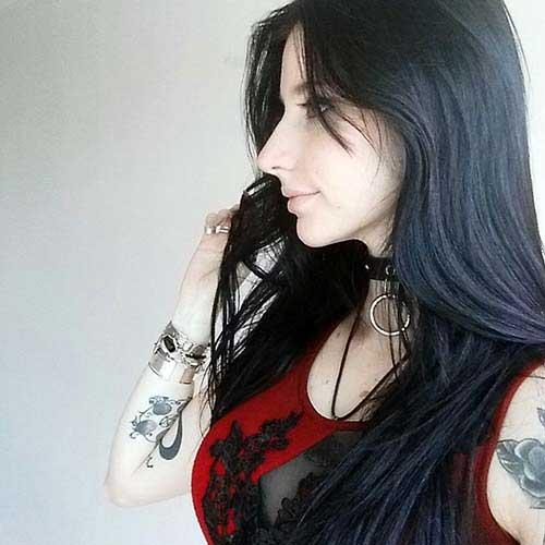 nuance natural de cabelo preto