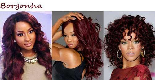 cabelo vermelho borgonha
