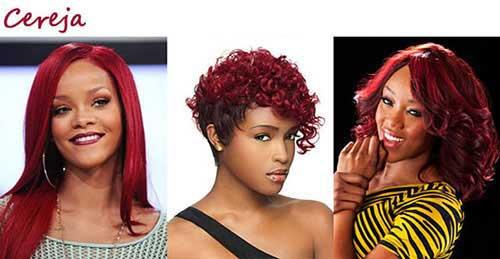 cabelo vermelho cereja