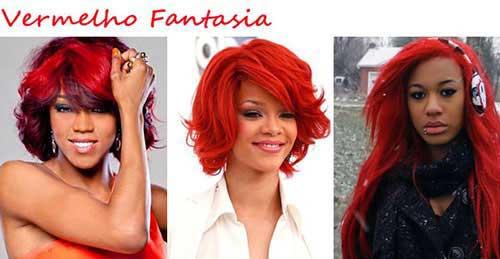 cabelo vermelho fantasia