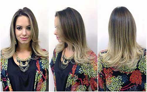 cabelo ombre com mecha loira