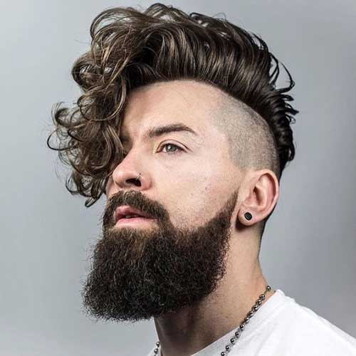 cabelo de homem com ondas