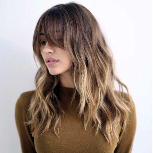 cabelo com franja longa perfeita
