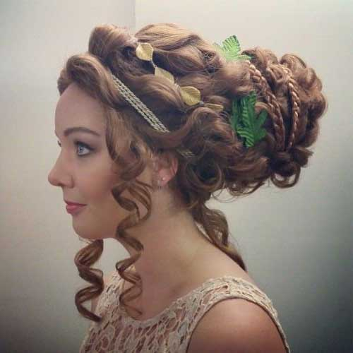 penteado grego pra festa a fantasia ou carnaval
