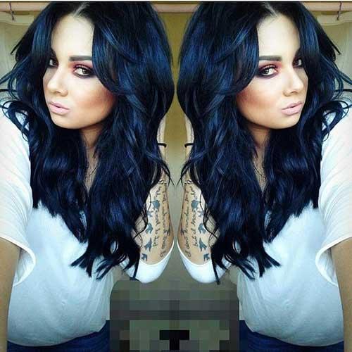 cabelos pretos azulado especiais
