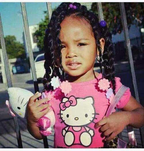 ponytail para menina pequena