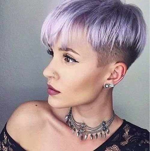cabelo feminino raspado do lado lilas