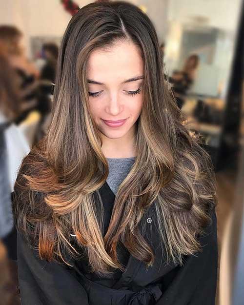 imagem de penteados lisos e compridos