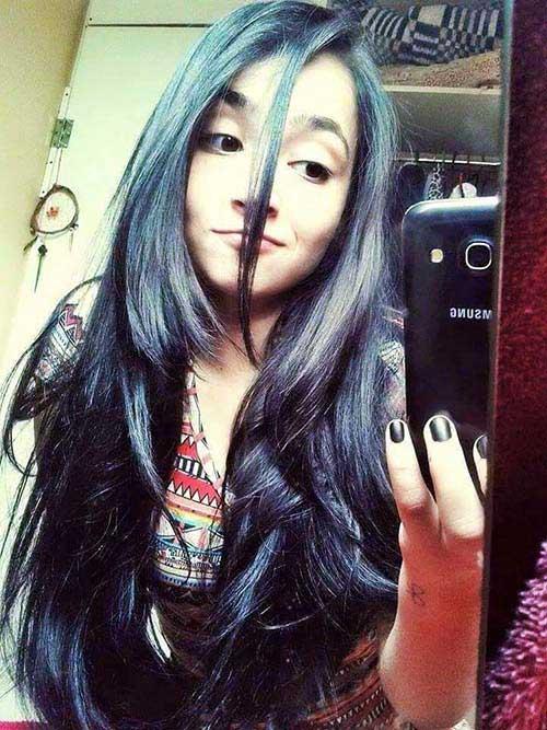 cabelos pretos picotados