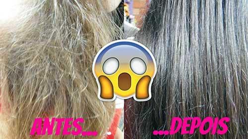 como fica o cabelo sem porosidade