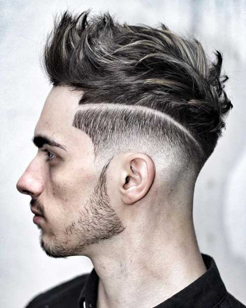 cabelo riscado do lado