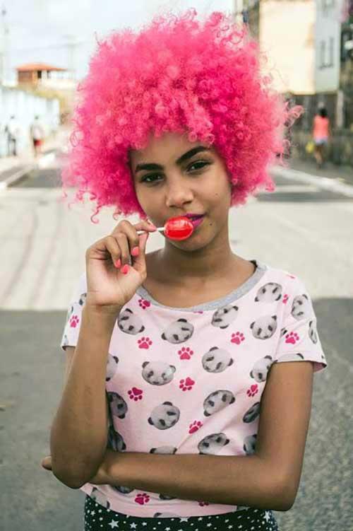 cabelo rosa intenso