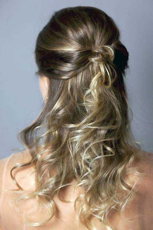 cabelos semi presos semissoltos cacheados e lisos