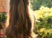 cabelo semi preso liso
