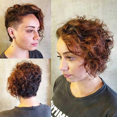 sidecut em cabelo cacheado curto