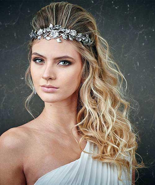 penteado chique com tiara grega