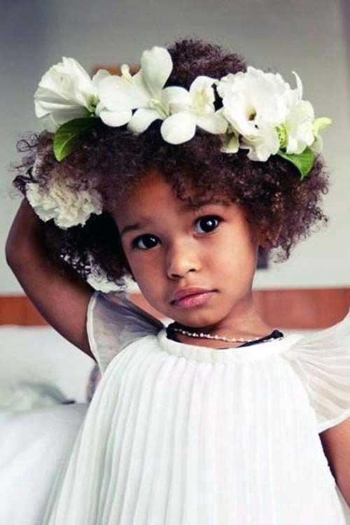 tiara de flores pra criança