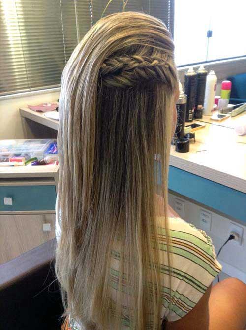penteado liso para celebrar